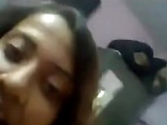 Indian desi girls playing with boobs and teasing each other in hostel room