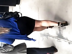 Big booty Latina bitch in tight black dress 1