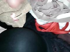 Cumming all over Mommy&039;s new Black VS Bra & Panties