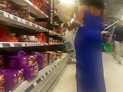 Big Booty Ebony Milf In Blue.