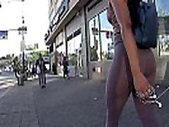 Curvy Latina in MEGA See-Thru Pink Leggings!