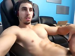 Jack Orion Huge Cock Wank Self Facial Cum Eating 2