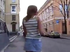 STP5 Long Legged Teen Leads Him Home For A Fuck !