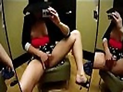 Hot Amateur Squirting All Over Her Mirror