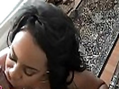 Lovely black chick sucks and rides