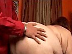 Man satisfying sexy chubby