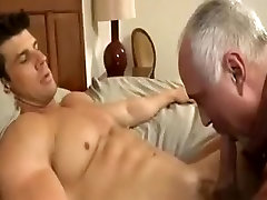 Gay Mature Guy Giving Head