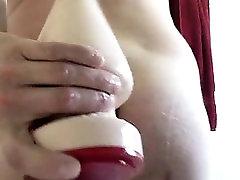 Horny gay dude caught masturbating