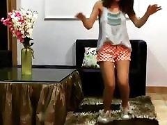 Desi Teen Dancing, Showing Hard Nipples Through Her Top