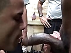 Military party hunk interracially drilled