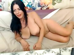 Hot MILF with Huge Natural Tits Plays on Cam xxcamslutsxx . com