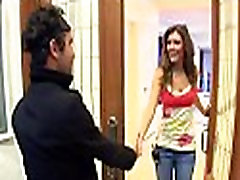 Nice-looking pornstar is having a date