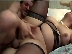 Amateur - BBW Blond Fat Pussy Bisex MMF Threesome CIM Share