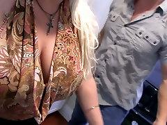 Hazel eyed big breasted blonde housewife Rachel Love is fucked hard