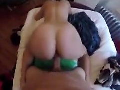 Sexy blonde chick gets her ass cummed on