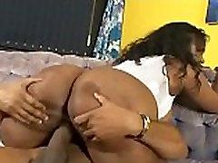 Ebony milf in lingerie sex scene