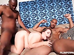 Sexy BBW Hillary Hooterz Fucked and Used By 2 Cocks