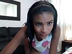 Ebony teen sexy cam show