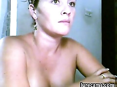 Striptease From Sexy Milf With Fake Boobs