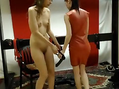 Horny webcam Lesbian, Strapon video with femdomshow whore.