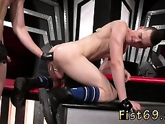 Gay smooth hardcore fisting small men Axel Abysse and
