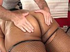 Black BBW Peaches Like Has Her Juicy Body and Kitty Massaged