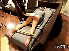 Amateur BDSM submissive wife paddled by BBC Master