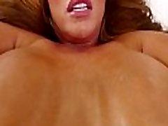 Busty MILF tittyfucking before pussyplay POV