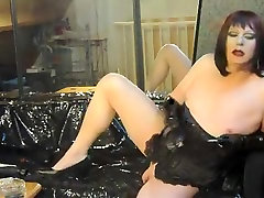Hottest amateur shemale clip with Solo, Masturbation scenes
