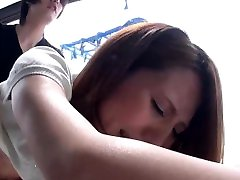 Skinny Asian teen has her trimmed fuck tube fiercely drilled