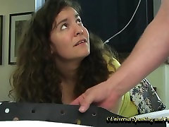 Her Painful Strapping - Spanking