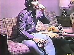 Blonde vintage teen takes big dick in vintage video