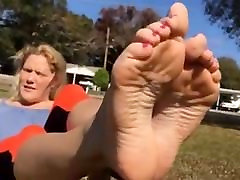 Very Perfect Sexy Feet Soles Pink Nails !!!