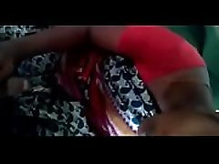 desi silk saree maid enjoying