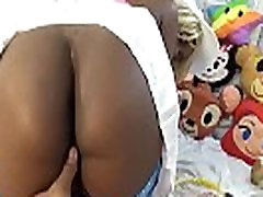 Nasty Ebony Bitch Up Skirt Big Booty And Asshole Finger Spreading Pussy Open POV
