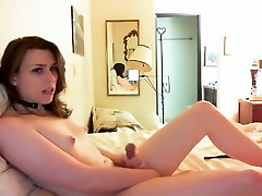 Fabulous amateur shemale clip with Masturbation, Small Tits scenes
