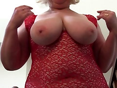 huge tits and a lush figure of a mature bbw