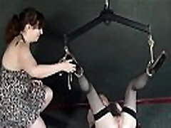 New lesbian slave Satine Sparks electro bdsm and self punishment of female submi