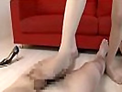 Jav beauty got her feet fucked by horny guys - More at Elitejavhd.com