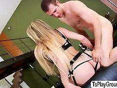 Horny TS Eva Paradis cherishes doggystyle and dick sucking