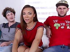 Ebony Teens Adriana Maya and Jamie Marleigh in Group Sex