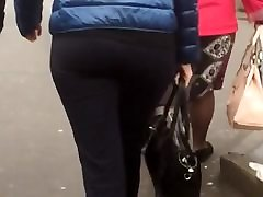 sexy russian milf ass on the street