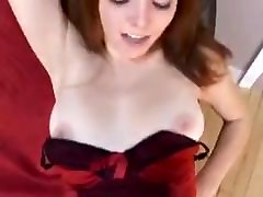 redhead girl takes huge cock