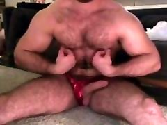 Hairy Big Dick Muscle & Dick play No cum