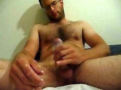 Hard White Cock Double Cum