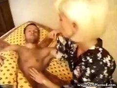 I am Pierced granny with pussy piercings rough sex