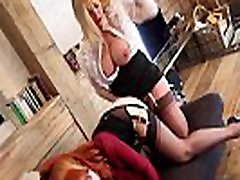 MILF Red uses strap-on with big breasted Lucy, and fucks her cunt