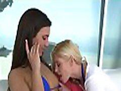 Breathtaking lesbo sex session
