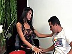 Sweet shemale Valerya Pacheco unprotected love with fisting