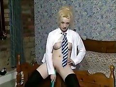 Horny Homemade clip with Solo, Masturbation scenes